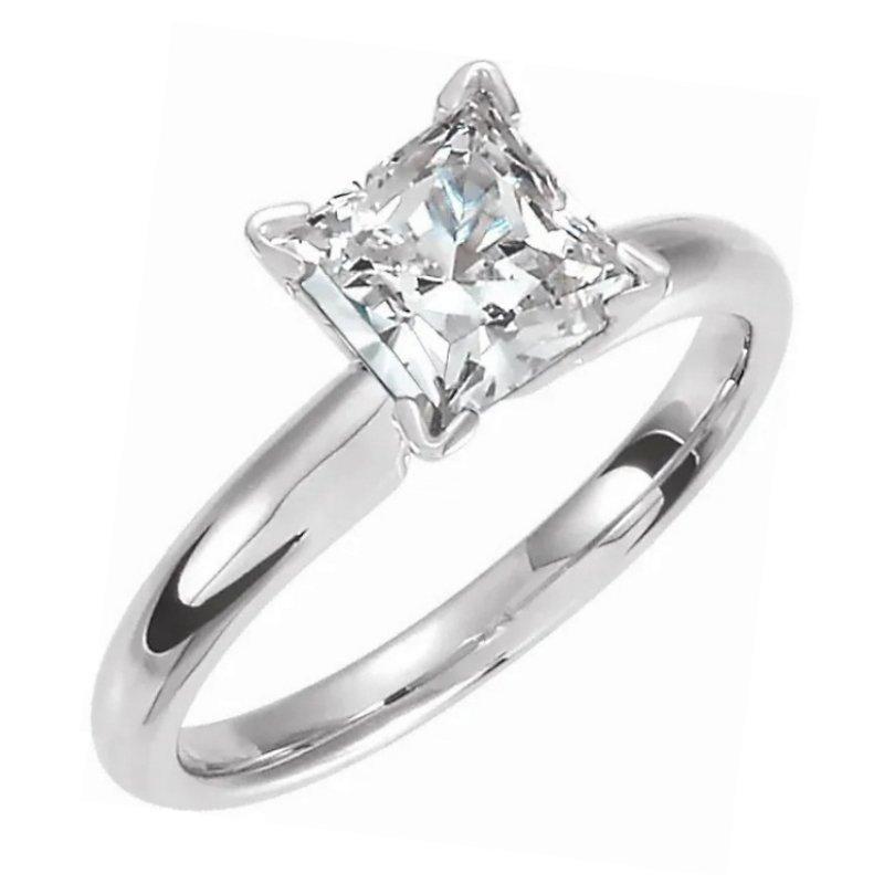 King's Bridal Diamond Engagement Ring Mod Square Cut