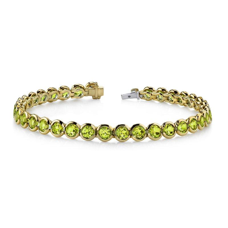 King's Peridot Bezel Set Bracelet