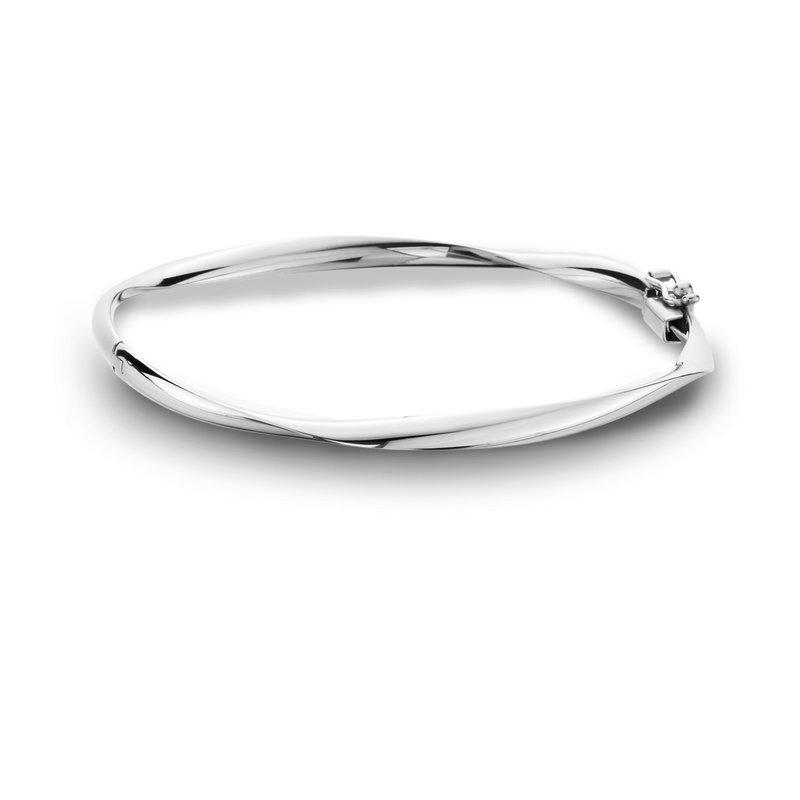 King's White Gold Bangle Bracelet