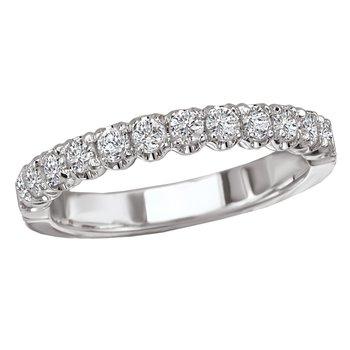 Diamond Wedding Band Shared Prong .50tw   #050629