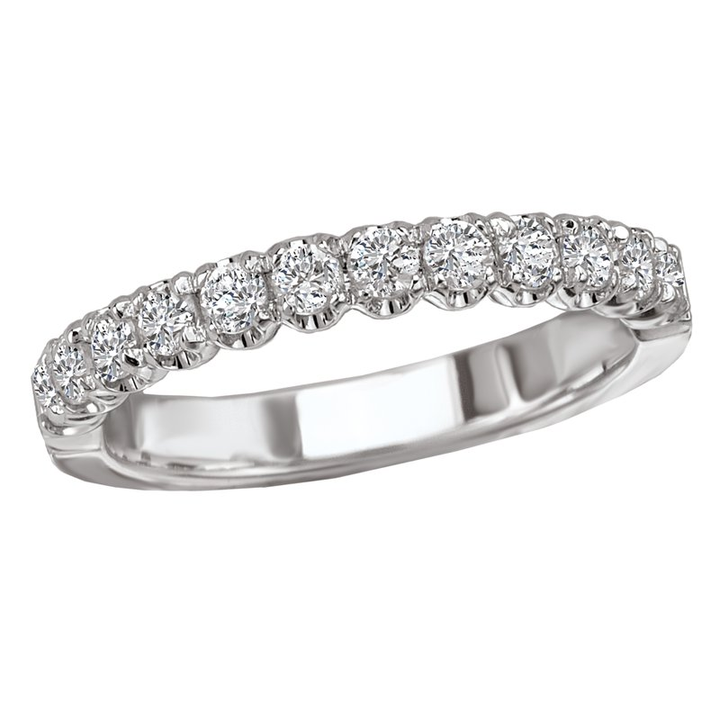 King's Bridal Diamond Wedding Band Shared Prong .50tw   #050629