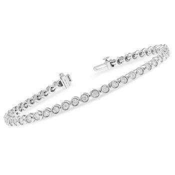 "Diamond ""Tennis"" Bracelet  1.00tw"