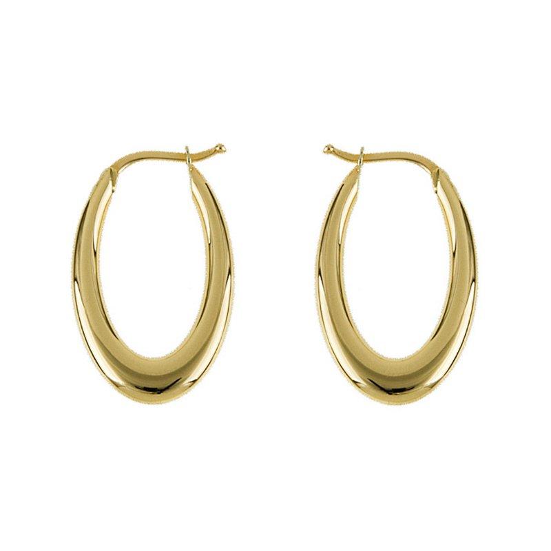 King's Oval Hoop Earrings