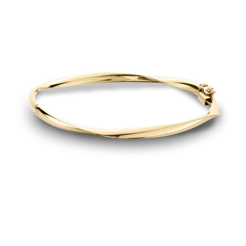 King's Yellow Gold Bangle Bracelet