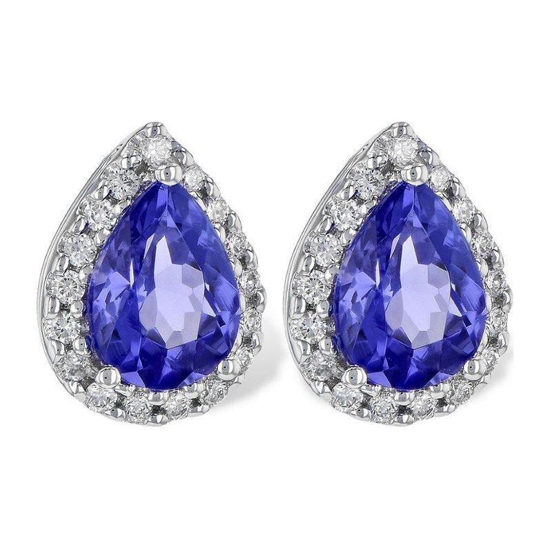 King's Tanzanite and Diamond Earrings