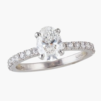 Oval Diamond Engagement Ring  #010316