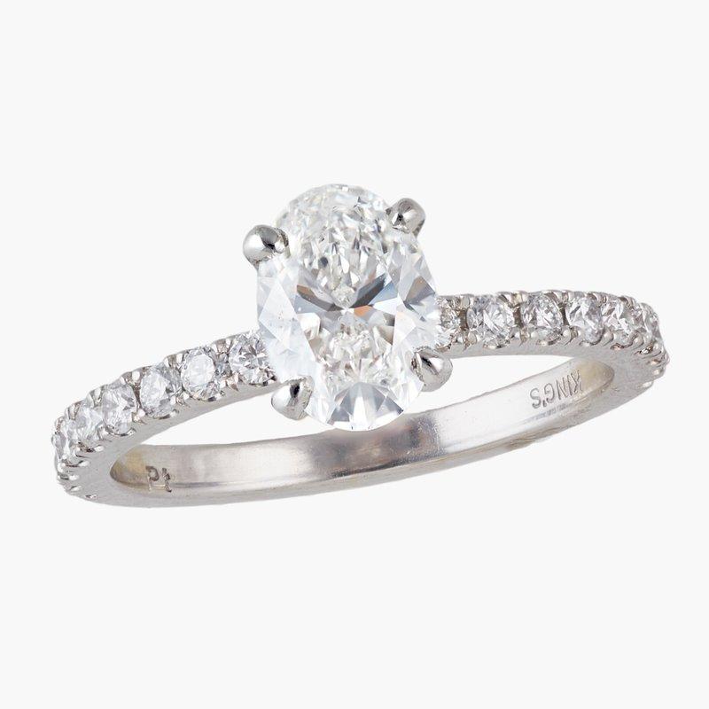 King's Bridal Oval Diamond Engagement Ring  #010316