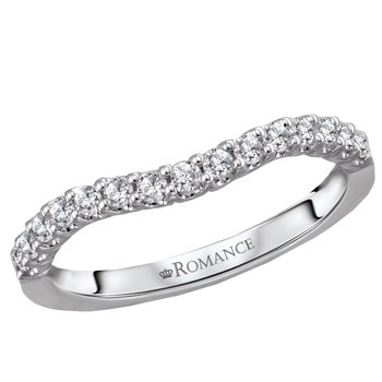 Curved Diamond Band 14kt .50tw   #050754