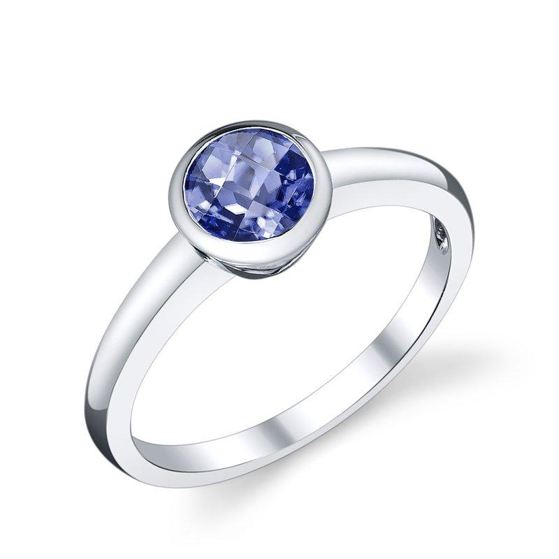 King's Bezel Set Tanzanite Ring