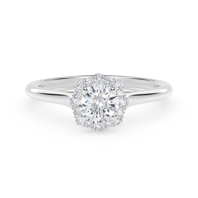 Forevermark Engagement & Commitment Collection Center of My Universe® Floral Halo Engagement Ring
