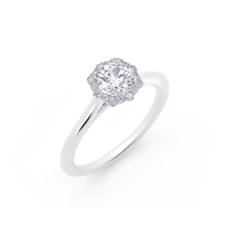 Forevermark Engagement & Commitment Collection Center of My Universe®Floral Halo Engagement Ring
