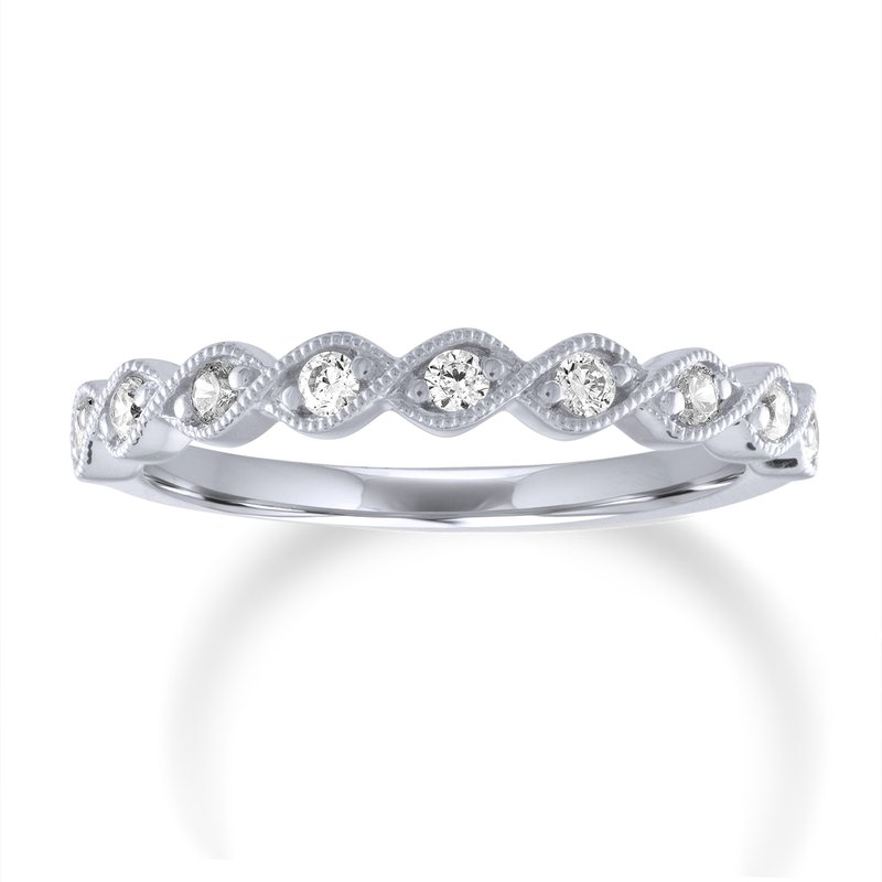 Forevermark Round Diamond Intertwining Milgrain Stacking Band