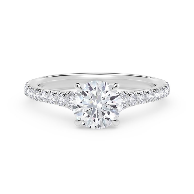 Forevermark Engagement & Commitment Collection Forevermark Icon™ Setting Round Engagement Ring with Diamond Band