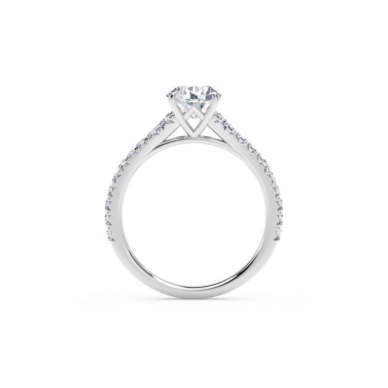 Forevermark Engagement & Commitment Collection Forevermark Icon™Setting Round Engagement Ring with Diamond Band
