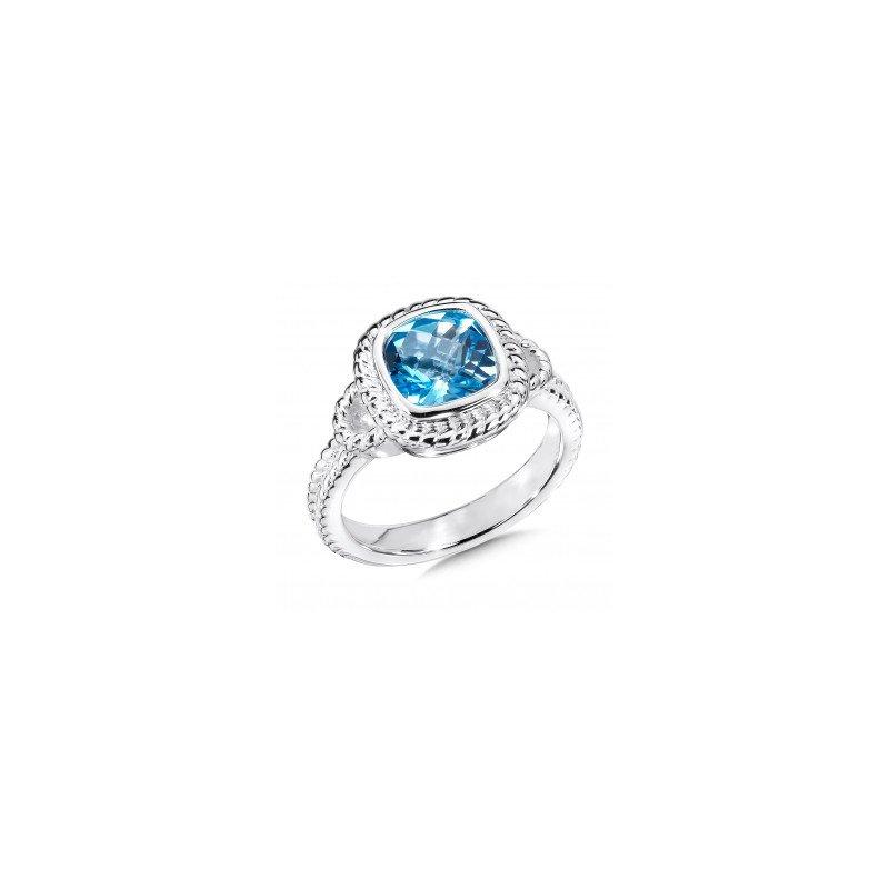 Colore SG Swiss Blue Topaz Fashion Ring