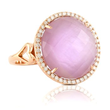Viola Halo Ring