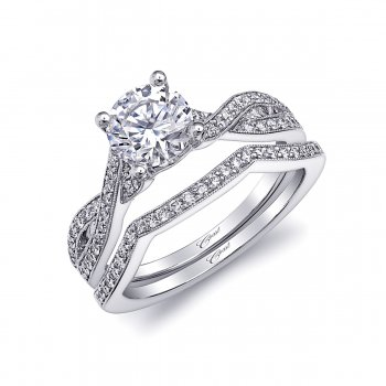 Diamond Twist Engagement Ring