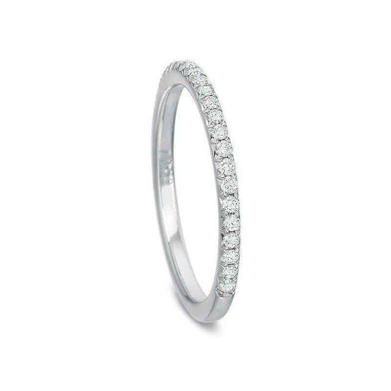 Precision Set Diamond Wedding Band