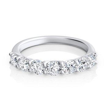 """Round Diamond """"Trellis"""" Seven-Stone Ring"""