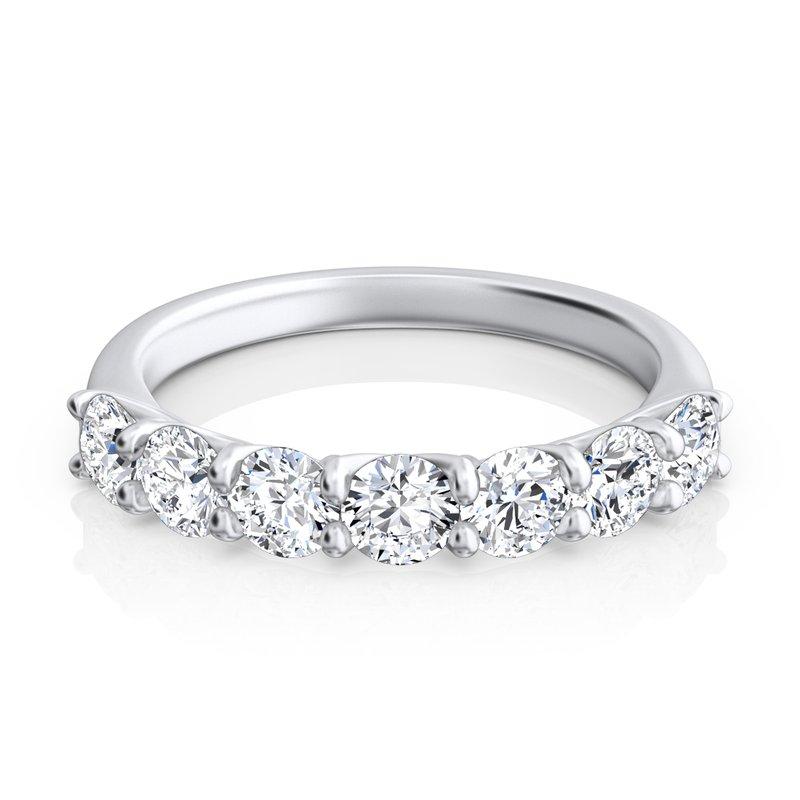 """Sasha Primak Round Diamond """"Trellis"""" Seven-Stone Ring"""
