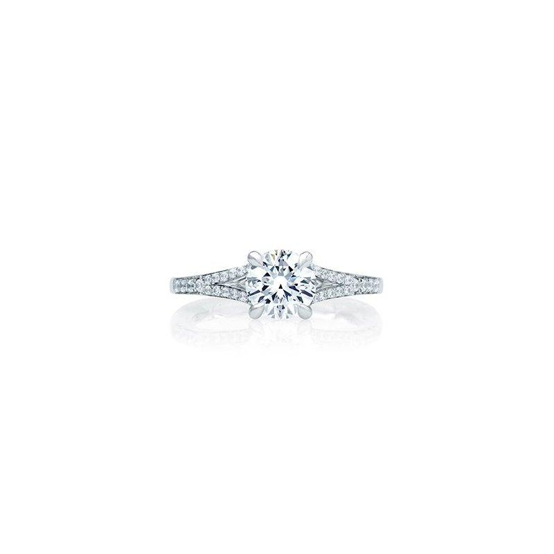 A. Jaffe Quilted Micro Pave Round Engagement Ring