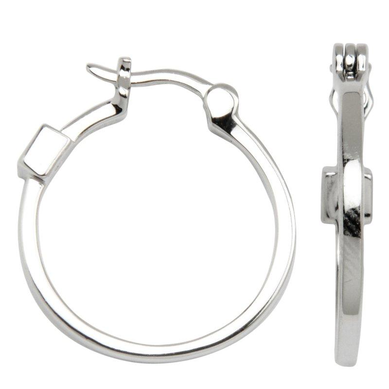 ELLE Sterling Silver Hoop Earrings