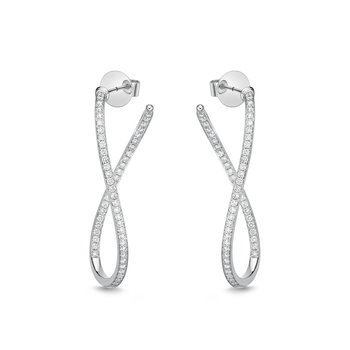 Channel Set Twist Inside Out Hoops