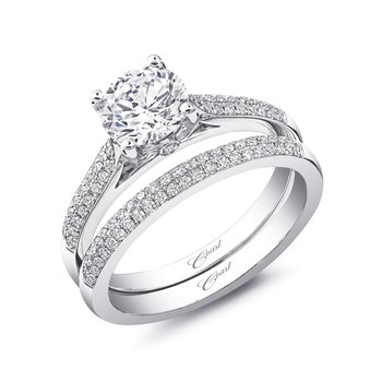 Matching Double Row Micropave Set Diamond Band