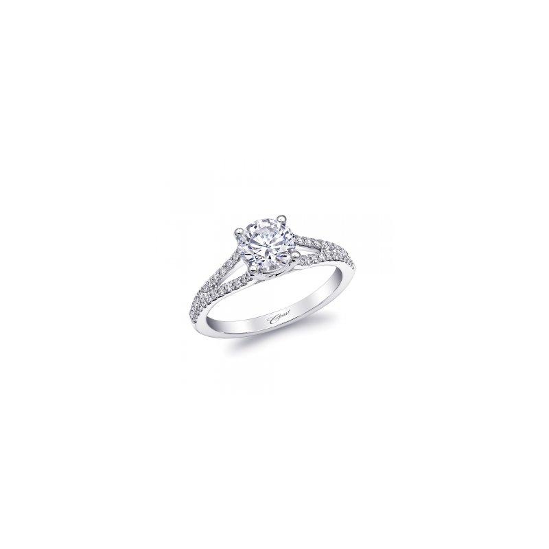 Coast Diamond Split Shank Diamond Engagement Ring