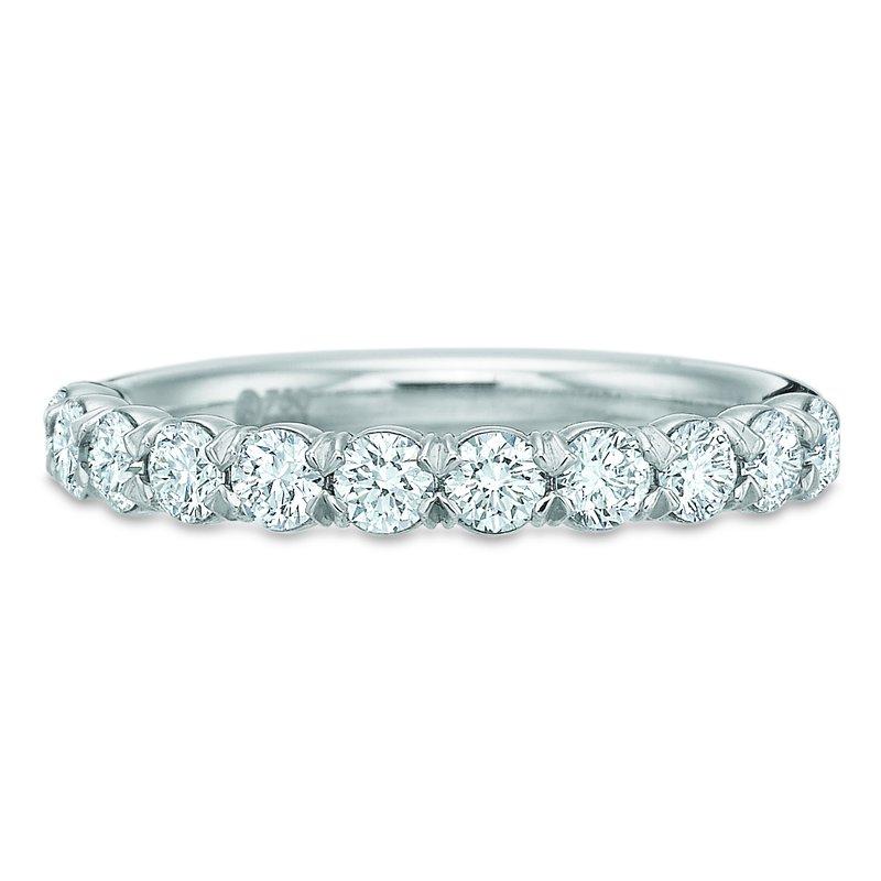 Precision Set Silk Diamond Wedding Band