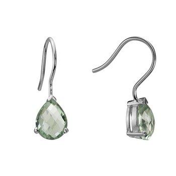 Prasiolite and Silver Earrings