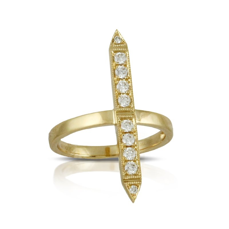 Doves Diamond Fashion Gold Ring