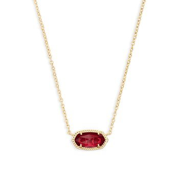 Elisa Necklace Gold Clear Berry