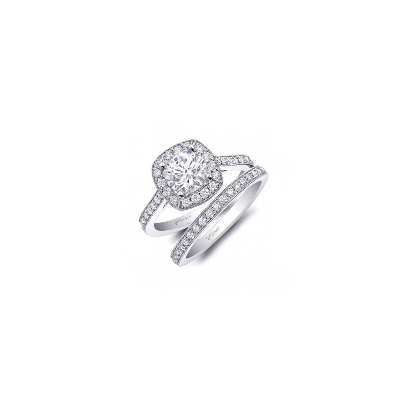 Coast Diamond Diamond Halo Engagement Ring