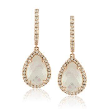 White Orchid Dangle Earrings