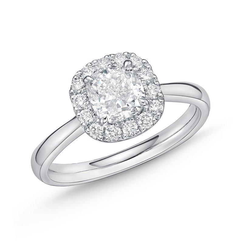 Memoire Diamond Halo Engagement Ring
