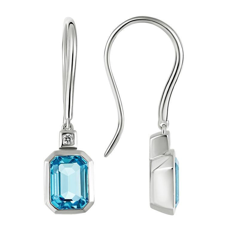Artistry Limited Swiss Blue Topaz Dolce Drop Earrings