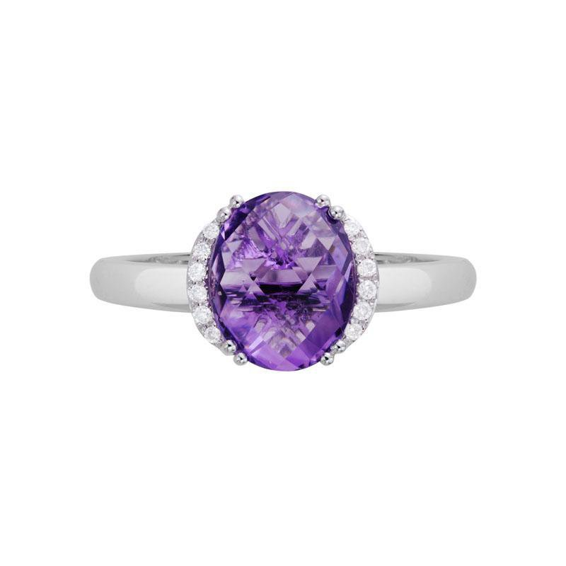 Artistry Limited Amethyst and Diamond Ring