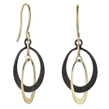 Petite Two-tone Oval Earrings