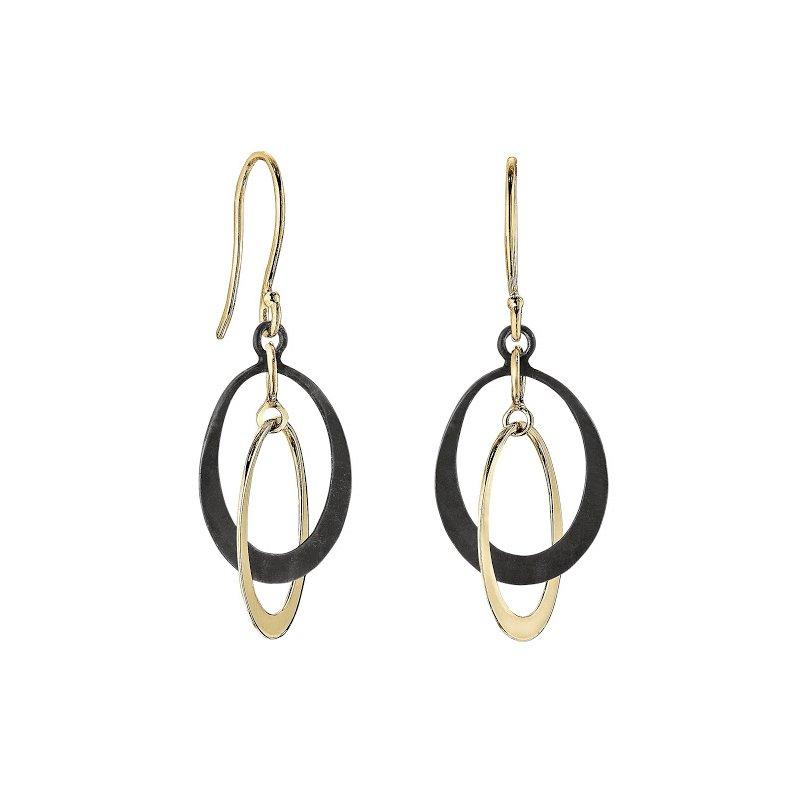 Toby Pomeroy Petite Two-tone Oval Earrings