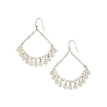 Sydney Drop Earrings In Silver