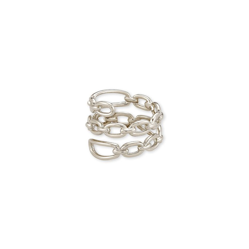Kendra Scott Ryder Wrap Ring In Silver