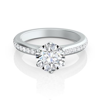 "Contoured Arched Pave ""Trellis"" Engagement Ring"