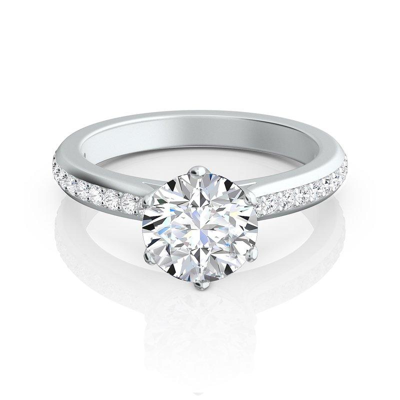 "Sasha Primak Contoured Arched Pave ""Trellis"" Engagement Ring"