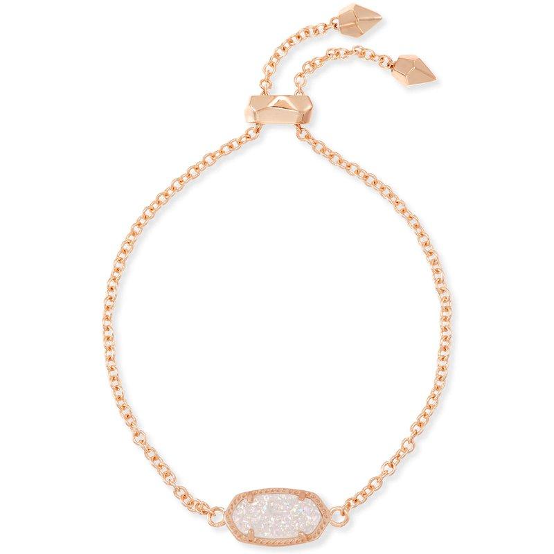Kendra Scott Elaina Bracelet Rose Gold Iridescent Drusy