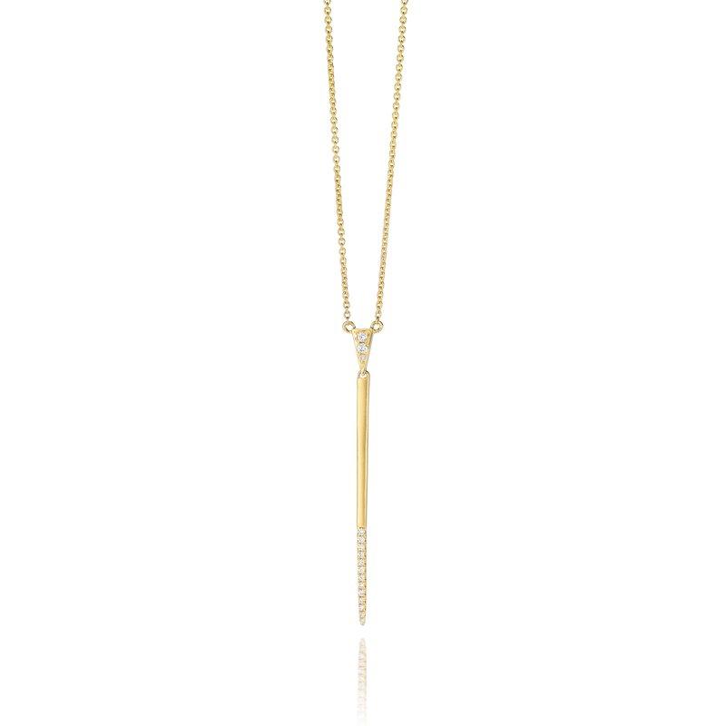 Doves Diamond Fashion Gold Line Necklace