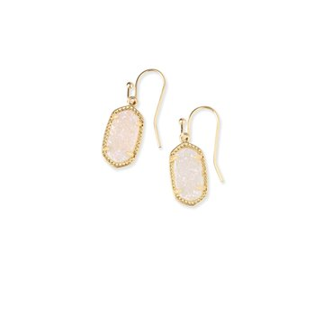 Lee Earrings Gold Iridescent Drusy