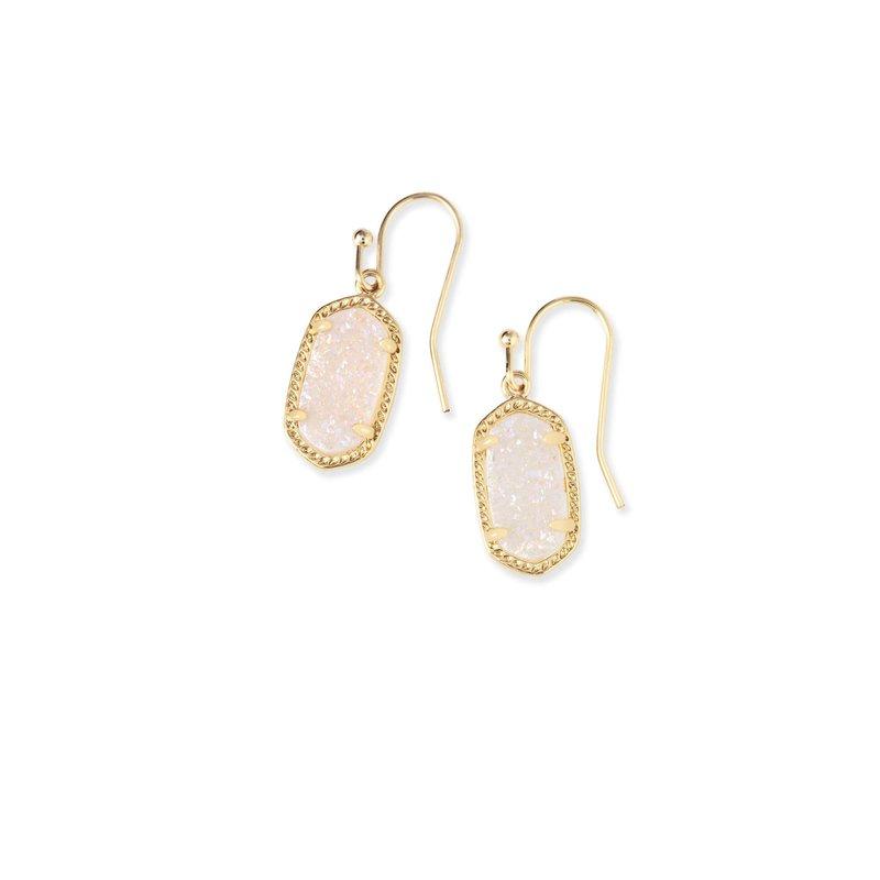 Kendra Scott Lee Earrings Gold Iridescent Drusy