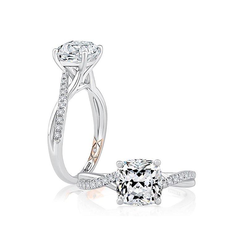 A. Jaffe Classic Twist Engagement Ring