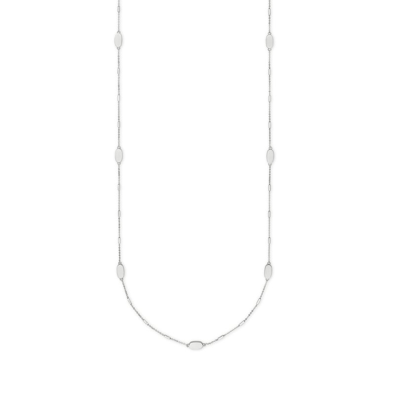 Kendra Scott Franklin Necklace in Bright Silver